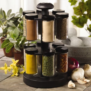 Kamenstein 'Spice Up Your Health' 12-jar Revolving Spice Rack