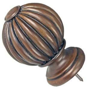 Menagerie Simplicity 5-inch Black Walnut Drapery Finial