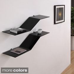Thive Floating Glass Modern Shelves (set of 2)