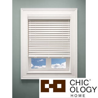 Off White Faux Wood Blinds