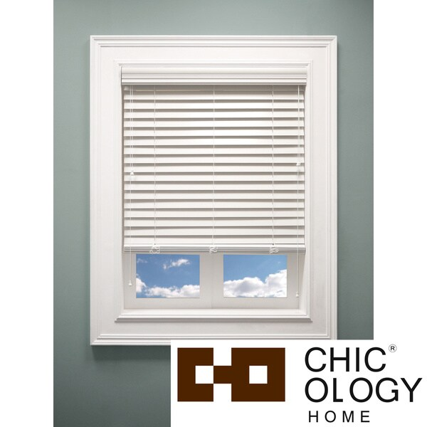 Chicology Faux Wood Sugar Blind