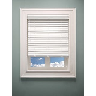 Chicology 2-inch Faux Wood Sugar White Blinds