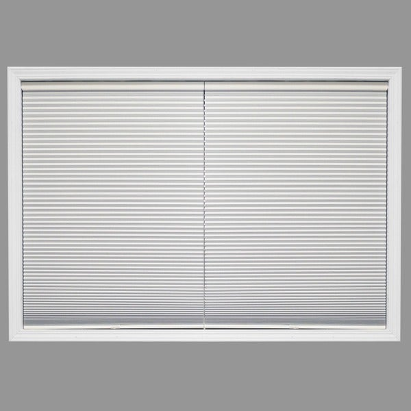 Chicology Cordless Cellular Shade Blackout Honeycomb Fabric Secret Cotton White (23-inch x 72-inch)
