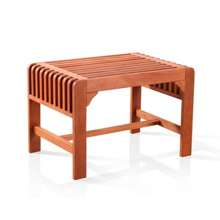 Vifah Backless Single Wood Outdoor Bench