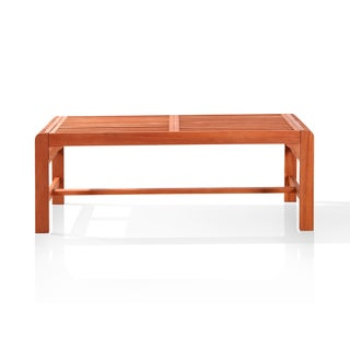 Vifah Backless Two Seater Wood Outdoor Bench