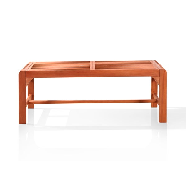 Vifah Backless Two Seater Wood Outdoor Bench Overstock Shopping Great Deals On Vifah Outdoor