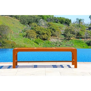 Malibu Eco-friendly Backless 5-foot Outdoor Hardwood Garden Bench