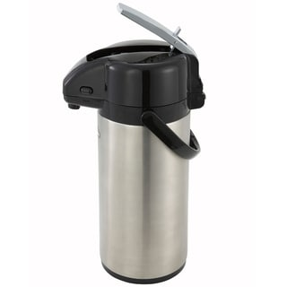Winco 2.5-liter Stainless Steel Vacuum Insulated Lever-top Airpot