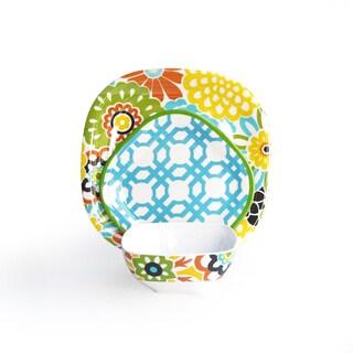 Waverly Button Blooms Confetti 12-piece Dinnerware Set