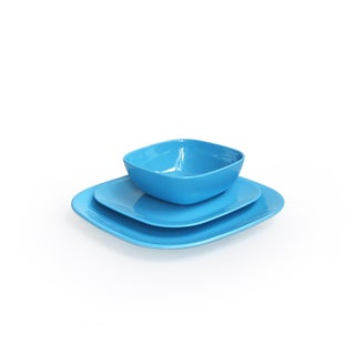 American Atelier Blue Square 12-piece Dinnerware Set