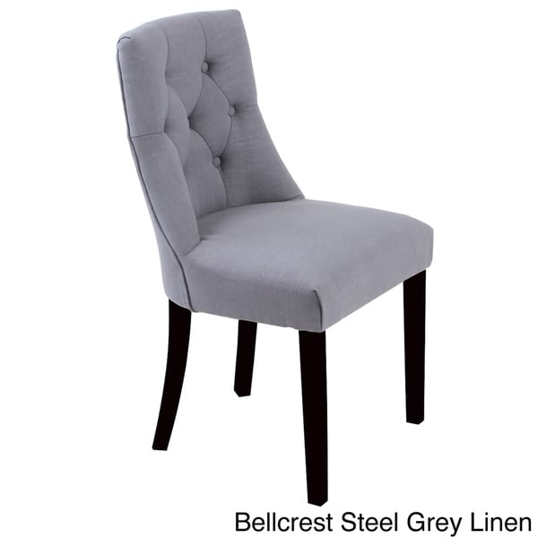chairs set of 2 bellcrest button tufted upholstered dining chairs set