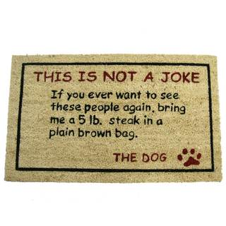Rubber-Cal 'Bring a Steak' Dog Doormat (18 x 30)