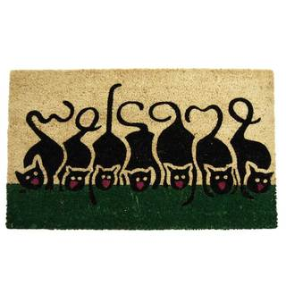 Rubber-Cal Purrrr! Cat Welcome Mat (18 x 30)