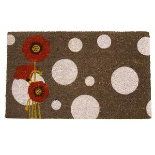 Rubber-Cal Rouge Contemporary Floral Doormat (18 x 30)