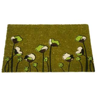Rubber-Cal Green Fields Flower Door Mat (18 x 30)