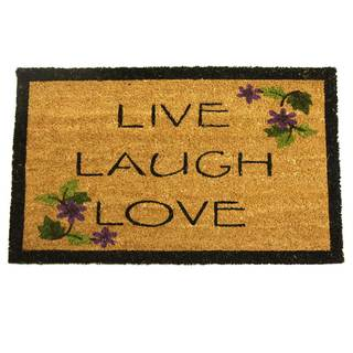 Rubber-Cal Live, Laugh, Love Novelty Door Mat (18 x 30)