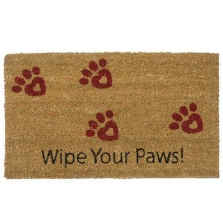 Rubber-Cal 'Wipe Your Paws' Door Mat (18 x 30)