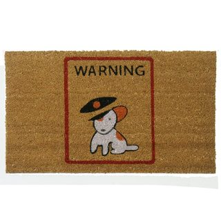 Rubber-Cal 'Warning, Vicious Puppy Inside' Coir Outdoor Door Mat