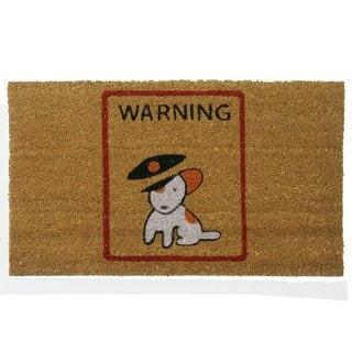 'Warning, Vicious Puppy Inside' Coir Outdoor Door Mat