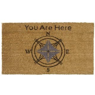 'You Are Here' Coir Outdoor Door Mat