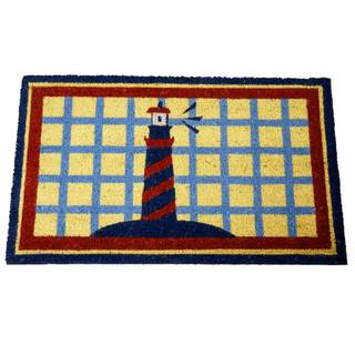 'Lighthouse on Cape Cod' Coir Outdoor Door Mat
