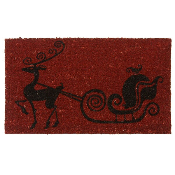 Rubber-Cal 'Rudolph the Red Nose Reindeer' Coir Holiday Door Mat