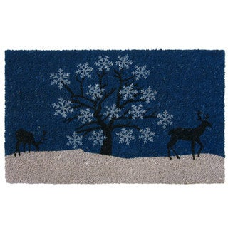 Rubber-Cal 'Blue Sky Holiday' Coir Outdoor Door Mat