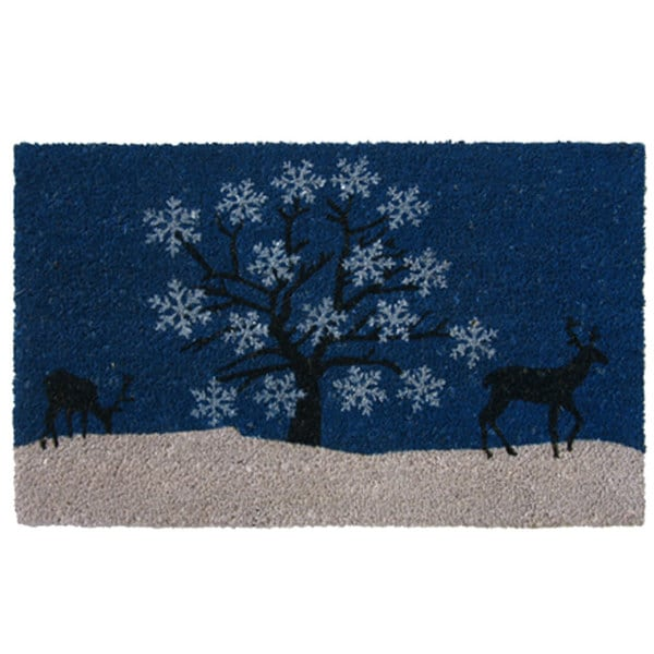 snowman estate coir doormat