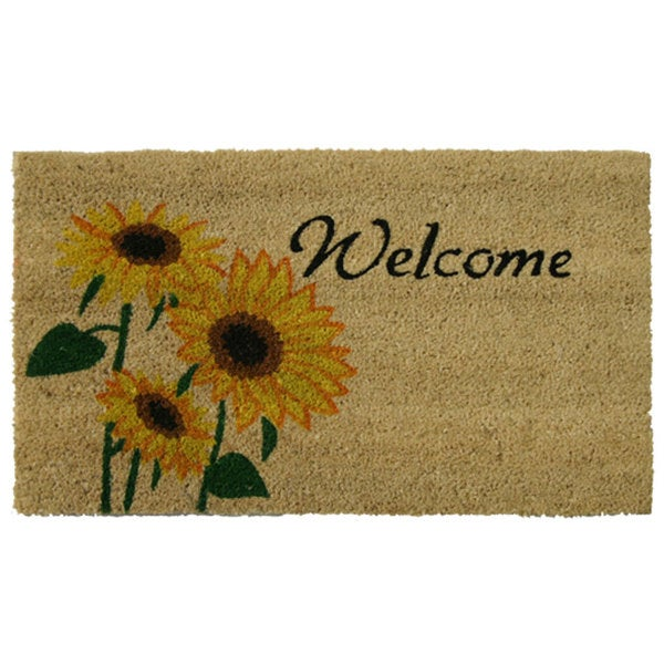 Rubber Cal Sunflower Coir Outdoor Door Mat 15352649