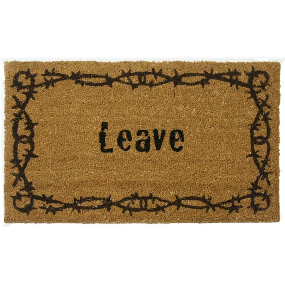 Rubber-Cal 'Leave' Coir Outdoor Door Mat at Sears.com