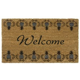 Tropical Pineapple Coir Outdoor Door Mat