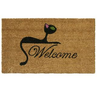 Rubber-Cal Kitty Cat Coir Welcome Mat