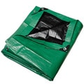 Black and Green Heavy Duty Tarp