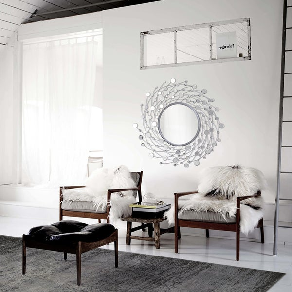 'Como' Spinning Circle Frame Mirror