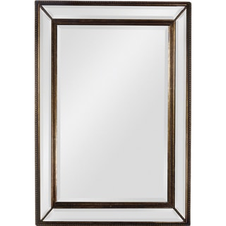 'Sienna' Antique Gold Trim Beveled Mirror