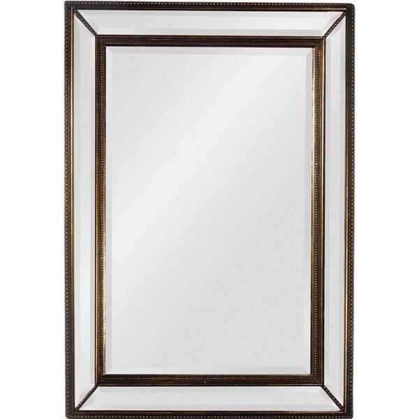 Ren Wil 'Sienna' Antique Gold Trim Beveled Mirror