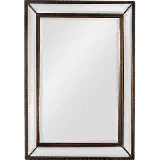 'Sienna' Antique Gold Trim Beveled Mirror