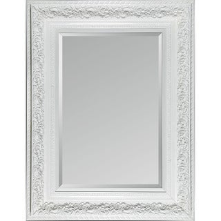Mirella White Framed Mirror