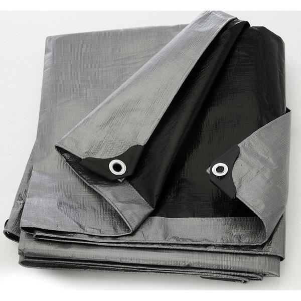 Heavy Duty Silver/Black Tarp Tarpaulin Canopy Cover