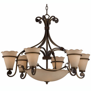 Coronado Harvest Bronze 6+3-light Chandelier