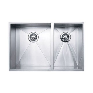 Ukinox DS400.60.40 60/40 Double Basin Stainless Steel Undermount Kitchen Sink