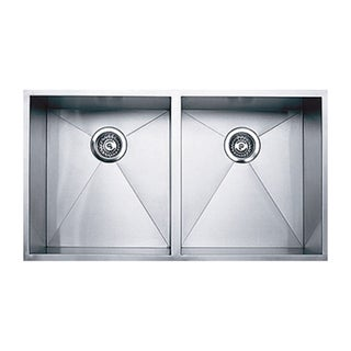 Ukinox DS400.50.50 50/50 Double Basin Stainless Steel Undermount Kitchen Sink
