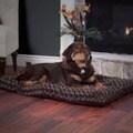Paw Lavish Cushion Chocolate Pillow Furry Pet Bed