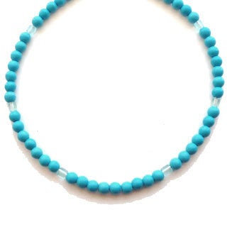 Every Morning Design Turquoise and Blue Glass Necklace