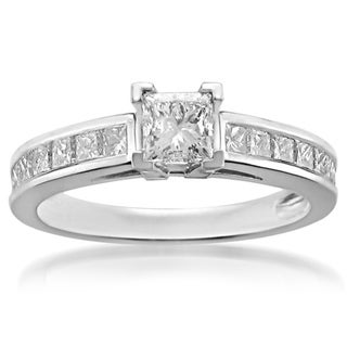 Platinum 1 1/3ct TDW Princess-cut Diamond Engagement Ring (H-I, I1-I2)