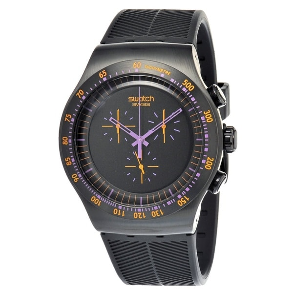 Swatch Men's Black/ Purple Watch