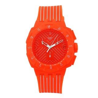 Swatch Men's 'Flash Run' Orange/ White Watch