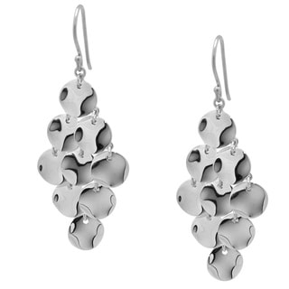 Gioelli Sterling Silver Shimmering Chandelier Earrings