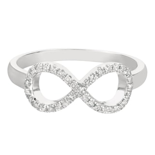 Sterling Silver 1/6ct TDW Diamond Infinity Ring (H-I, I2-I3)