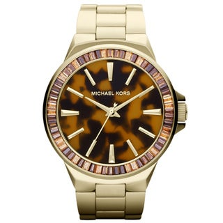 Michael Kors Women's MK5723 'Gramercy' Tortoise Dial Watch